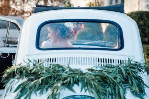 Fiat 500 oldtimer trouwauto