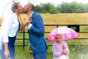 Bruiloft met regen